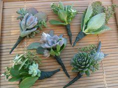 Beautiful Bridal: Succulent Boutonnieres