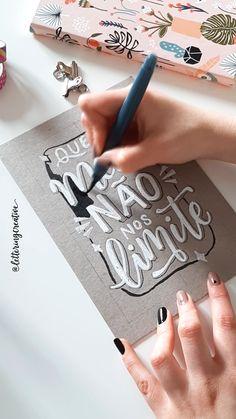Brush Lettering Quotes, Chalk Lettering, Watercolor Lettering, Doodle Lettering, Typography Letters, Lettering Design, Bullet Journal Notes, Bullet Journal Aesthetic, Bullet Journal Ideas Pages