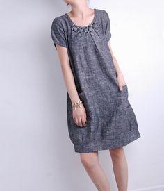 Summer Linen tričko šaty MaLieb na Etsy by Lieb Ma