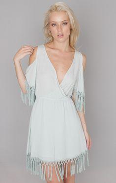 Fringe Dress (Mint)