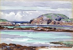 Francis Cadell watercolour. Marvellous seascape!
