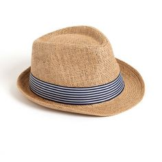 Straw Fedora with Contrast Band
