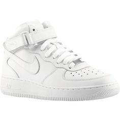 Nike Air Force 1 Mid Boys' Grade School (260 BRL) ❤ liked on Polyvore featuring nike and shoes