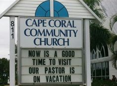 This apparently was a joke played on the pastor lol