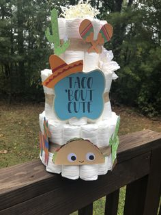 Custom Diaper Cakes in ANY theme or color scheme! Twin Baby Shower Theme, Mexican Theme Baby Shower, Baby Shower Fun, Baby Shower Gender Reveal, Baby Shower Gifts, Fiesta Gender Reveal Party, Diaper Centerpiece, Tiffany Baby Showers, Ginger Babies