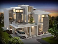 Modern contemporary house architecture in 2019 Best modern house design, Luxury house plans Modern Contemporary Homes, Contemporary Building, Interior Modern, Modern Homes, Modern Mansion, Modern Luxury, Contemporary Architecture, Luxury House Plans, Modern House Plans