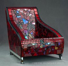 Stained-glass chair