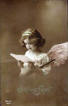 Photo: Vintage Postcard ~ Sweet Angel