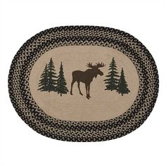 2 x 3 C/&F Home Welcome Friends Lodge Hooked Rug Black
