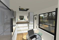 mcm design motorhome tiny house 03 600x406 Custom Truck RV: Modern Motorhome Living or a Tiny House?