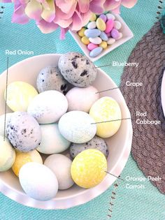 All-Natural Easter Egg Dye Recipes | @kimbyers