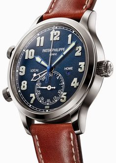 Patek Philippe Calatrava Pilot Travel Time – Пилотские часы от Патек Филипп | LuxuriousWatches.ru