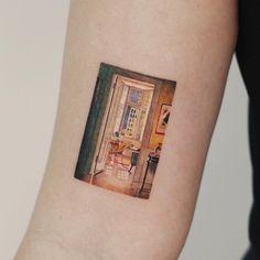 Patrick William Adam's painting tattoo by tattooist Saegeem Pretty Tattoos, Beautiful Tattoos, Cool Tattoos, Tatoos, Piercings, Piercing Tattoo, I Tattoo, Snake Tattoo, Body Art Tattoos