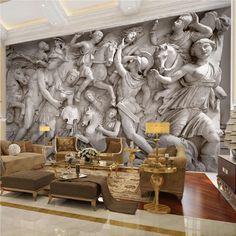 Cheap paper mural, Buy Directly from China Suppliers:Custom Photo Wallpaper European Retro Roman Statues Art Wall Mural Restaurant Living Room Sofa Backdrops Wall Paper Mural