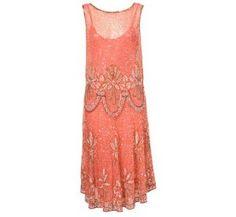 topshop pink 20s flapper dress