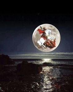A lua e São Jorge ( Ogum cavaleiro de Arunda)