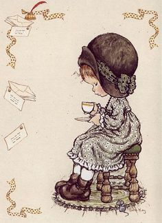 ✿Time For Coffee & Tea✿ Sarah Kay / Coffee Art / Coffee Shop Stuff Sarah Key, Cute Images, Cute Pictures, Children's Book Illustration, Illustrations, Decoupage, Hobby Horse, Holly Hobbie, Sweet Memories