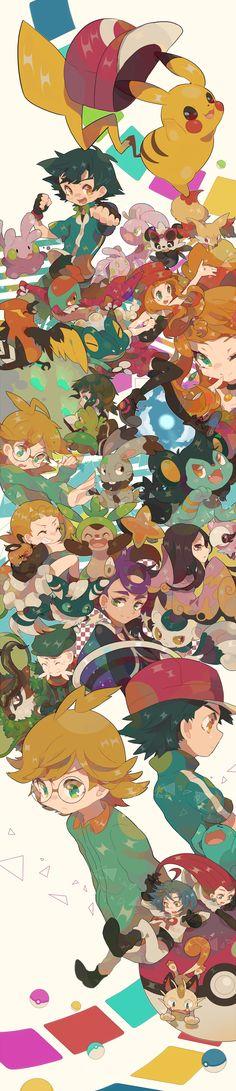 Tags: Fanart, Pokémon, Nintendo, Pixiv, Pikachu, Meowth, Satoshi (Pokémon), Luxio, Treecko, Musashi (Pokémon), Kojirou (Pokémon), Wobbuffet, GAME FREAK, Team Rocket, PNG Conversion, Fanart From Pixiv, Pixiv Id 1481702, Gym Leader, Fennekin, Chespin, Serena (Pokémon), Gogoat, Pancham, Spritzee, Dedenne, Bunnelby, Frogadier, Meowstic, Sliggoo, Goomy, Goodra, Hawlucha, Citron (Pokémon), Mache, Eureka (Pokémon), Fukuji (Pokémon), Fletchinder, Gojika, Higana (Pokémon)