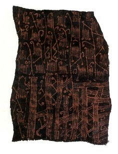 Painted Barkcloth Date: 20th century Geography: Democratic Republic of the Congo Culture: Mbuti peoples Medium: Barkcloth, pigment Dimension...