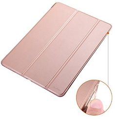 Dyasge TPU Bumper Case with Stand for iPad Air 2 - Rose Gold