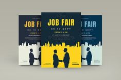 Job Fair Flyer Template by VectorVactory on @creativemarket