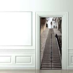 Trippy Door Decals - Couture Deco's Trompe-L'Oeil will Make Your Door Stand Out (GALLERY)