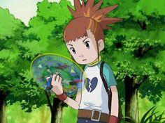 Digimon Tamers: Rika scanning Andromon's data