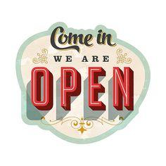49€ pour ce Pro Art Décoration murale : We are open