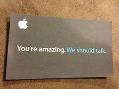 My friend's new business card. He works for some fruit company.