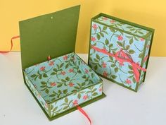 Lovely Lined Keepsake Gift Box with Petal Garden DSP by Stampin' Up Video Tutorial - YouTube