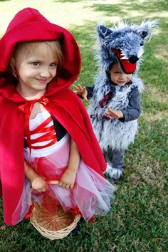 itty luxe - red riding hood and big bad wolf costume