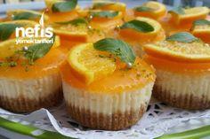 Portakallı Porsiyonluk Chesecake Tarifi