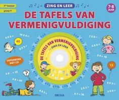 sing and learn: the multiplication tables (+ cd) – mijn boekenkast bevat al – tafel Mathematics, Singing, Learning, School, Kids, Multiplication Tables, Jasper, Products, Theory