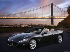 Maserati GranCabrio with stunning backdrop. 10 carhoots.com points if you can guess the bridge/city?