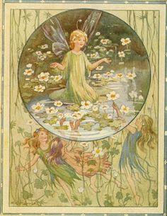 Margaret Tarrent- Fairies on a pond