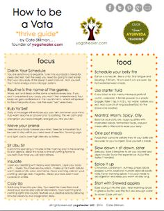 How to Thrive for Vata, Pitta, & Kapha Yogahealer - Ayurveda Lifestyle Ayurvedic Healing, Ayurvedic Diet, Ayurvedic Recipes, Ayurvedic Medicine, Holistic Healing, Natural Healing, Holistic Medicine, Ayurvedic Remedies, Reiki