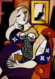 Picasso, Donna che legge (woman reading)