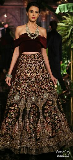 Pinterest: @Littlehub  || Dreamy Lehenga's ❤•。*゚  || Manish Malhotra Lehenga - The Persian Story Collection