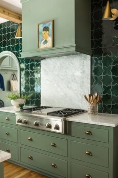 Out of All the Green Kitchens We've Seen This Year, This One Takes the Cake