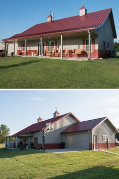 45 Durable & Beautiful Steel Homes That You Have To See - House Topics Residential Steel Buildings, Metal Buildings, Metal Building Homes, Building A House, Steel Homes, Steel Frame House, Construction Tools, Living Spaces, Exterior