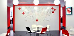 Ideas Wall. Comic Relief, London by Interiors Group