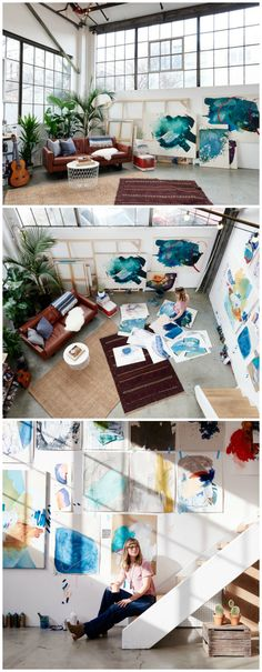 Love this artists loft/studio. Check it out.