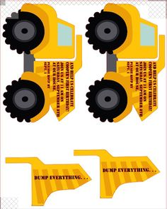 dump truck invitation; that moves