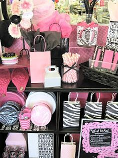 #Zebra Black and Pink Party