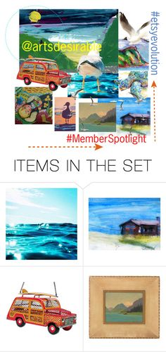 """Get Me to the Beach!"" by plumsandhoneyvintage ❤ liked on Polyvore featuring art and country"