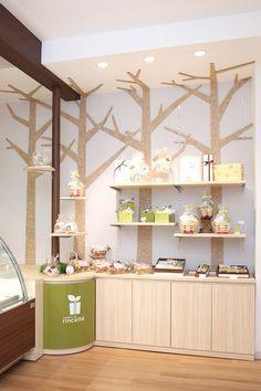 洋菓子店のディスプレイデザイン