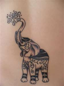 "get something like this, on the back of my neck   ""good luck, trunk up"""