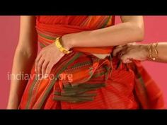 How to wear a cotton saree in Lingayat style, India