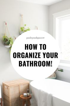 How to organize your bathroom. Tips, tricks, and ideas for how to get your bathroom stuff in order. Home Organization Hacks, Organizing Your Home, Bathroom Organization, Bathroom Stuff, Bathroom Ideas, Life Tips, Life Hacks, Home Decor Inspiration, Decor Ideas