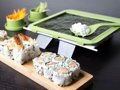 Sushi Roller Kit, provides the tools you need to make your own sushi rolls at home. so cool!